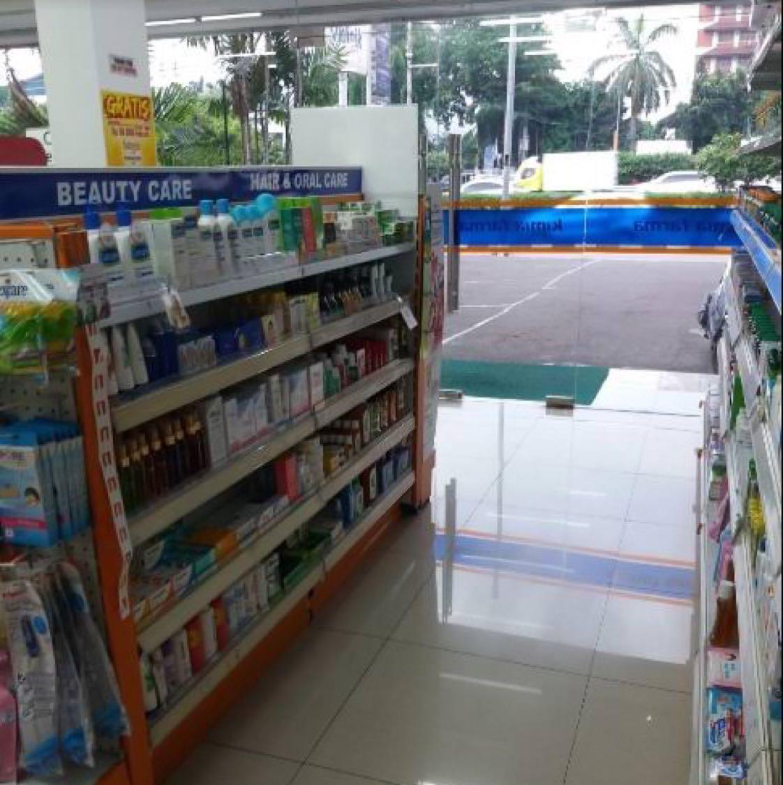 Bisnis yang memang harusnya buka 24 jam adalah apotek. Kimia Farma sangat tanggap akan kebutuhan masyarakat yang mendadak perlu obat di tengah malam. Salah satu apoteknya yang buka 24 jam adalah yang di Jl. S Parman, Slipi, Jakarta Barat.