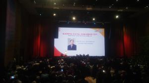 Menristek/Kepala BRIN Bambang Brodjonegoro memberikan keynote speaker di sesi ketiga Indonesia Digital Conference 2019.